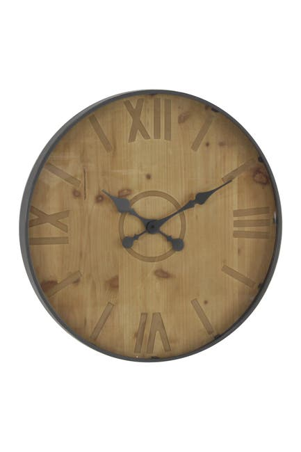 """Image of Willow Row Rustic 24"""" Round Wall Clock"""
