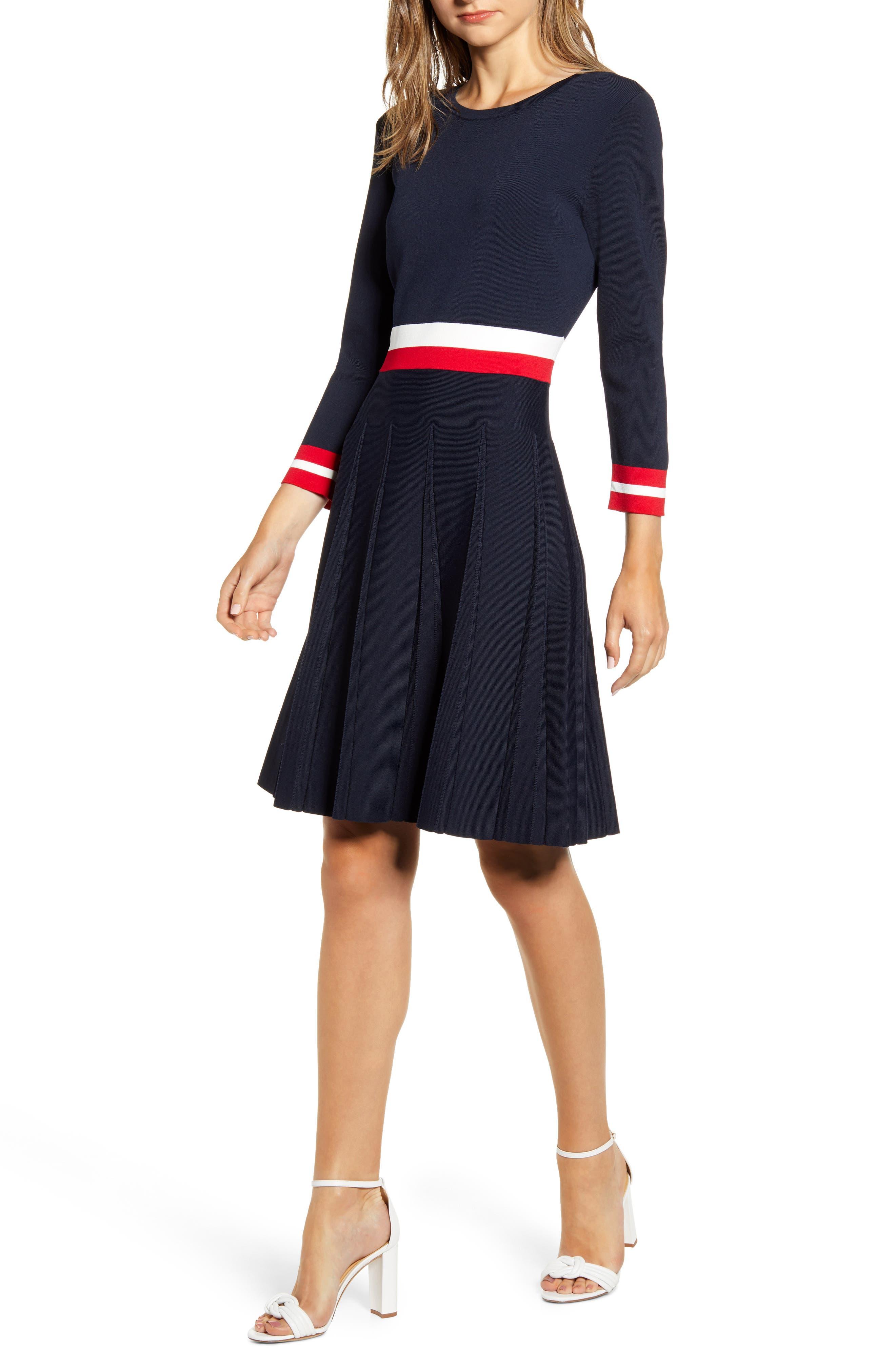 Tommy Hilfiger Dresses Fit & Flare Sweater Dress