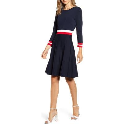 Tommy Hilfiger Fit & Flare Sweater Dress, Blue