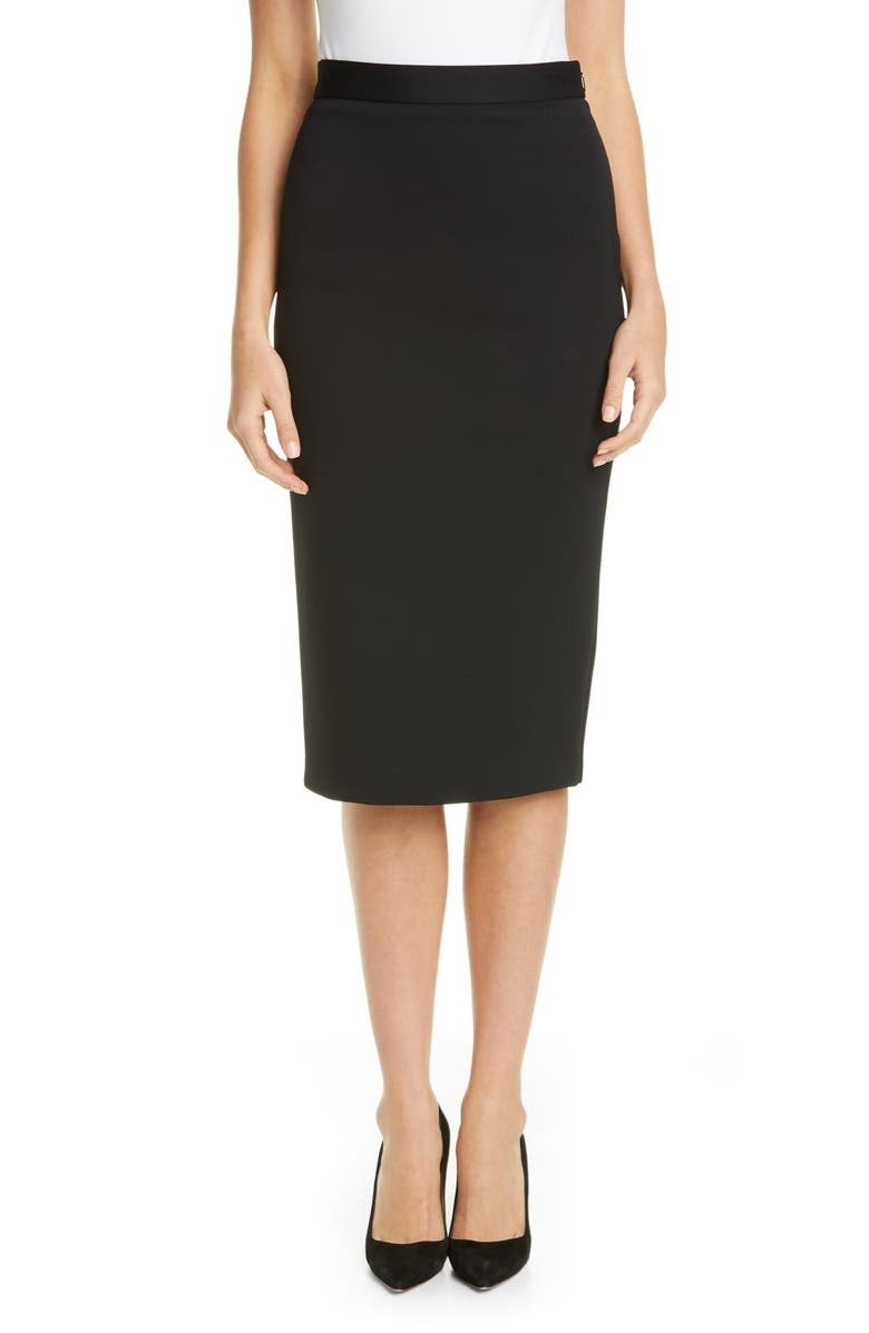 MAX MARA Manco Pencil Skirt, Main, color, BLACK