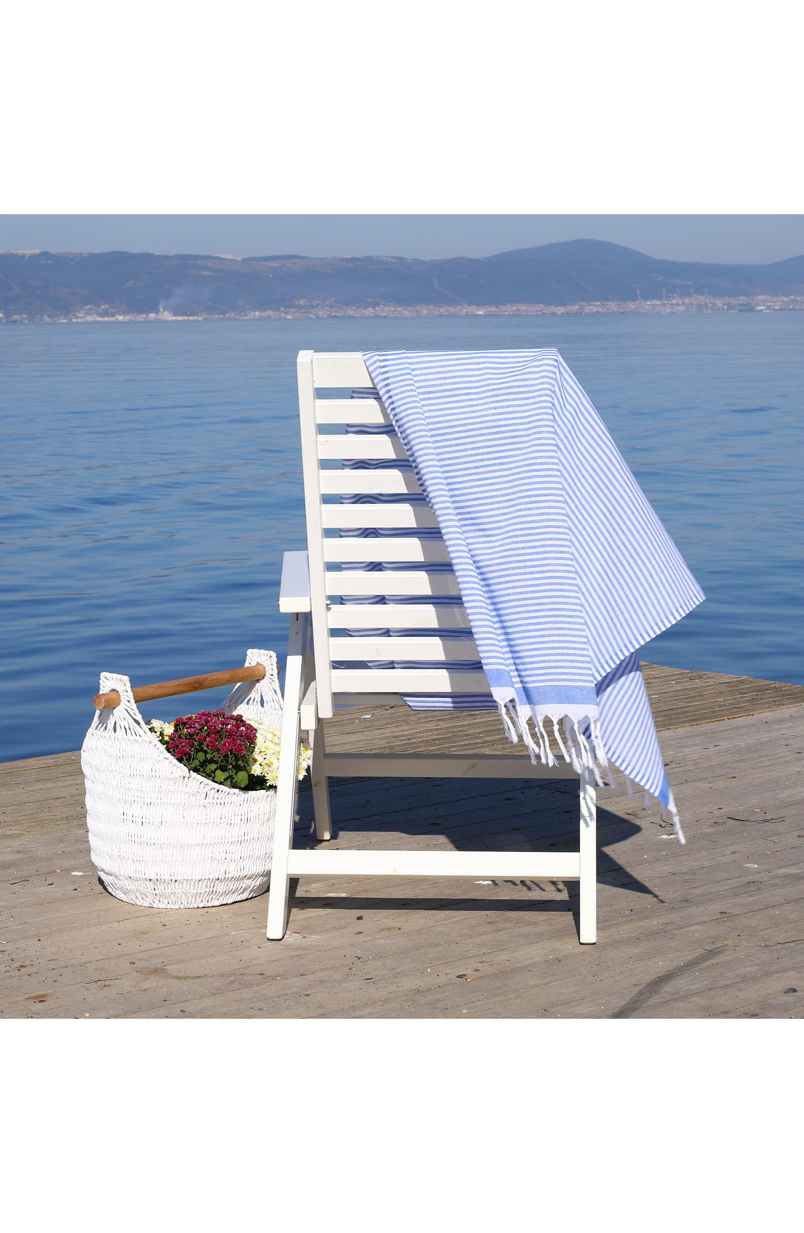 ,                             Soft Stripes Turkish Pestemal Towel,                             Alternate thumbnail 12, color,                             ROYAL BLUE