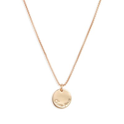 Stella + Ruby Choose Peace Pendant Necklace