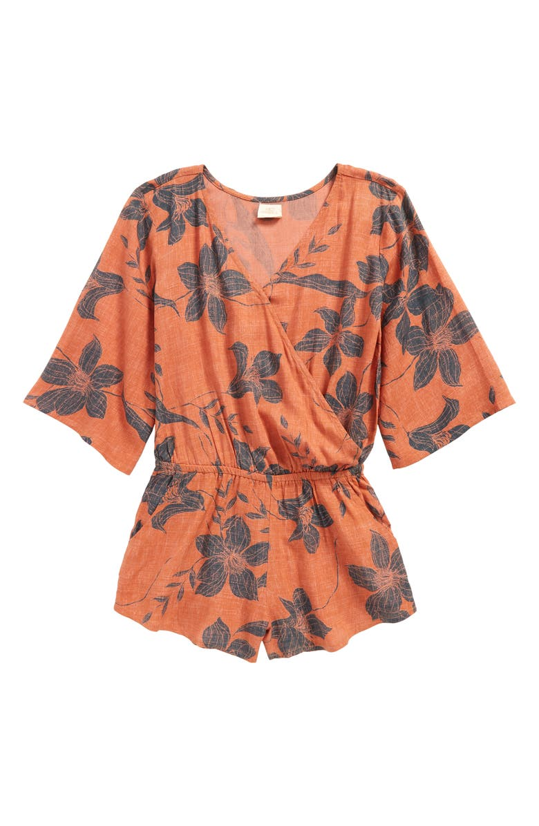 O'NEILL Joanie Wrap Front Romper, Main, color, 620