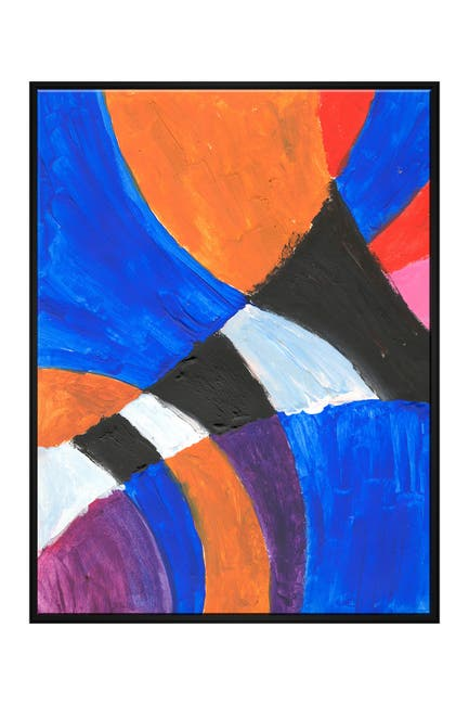 Image of PTM Images Bold Abstract Large VIII Floater Framed Canvas
