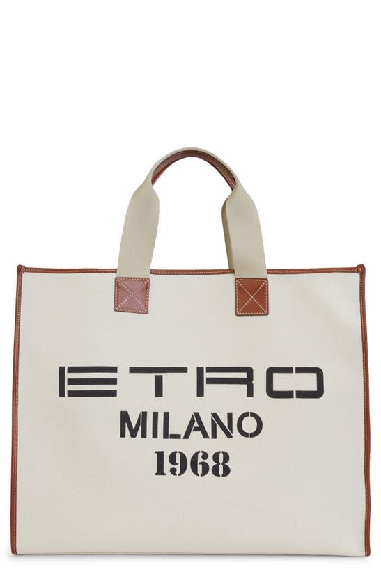 Etro Totes MILANO 1968 CANVAS TOTE