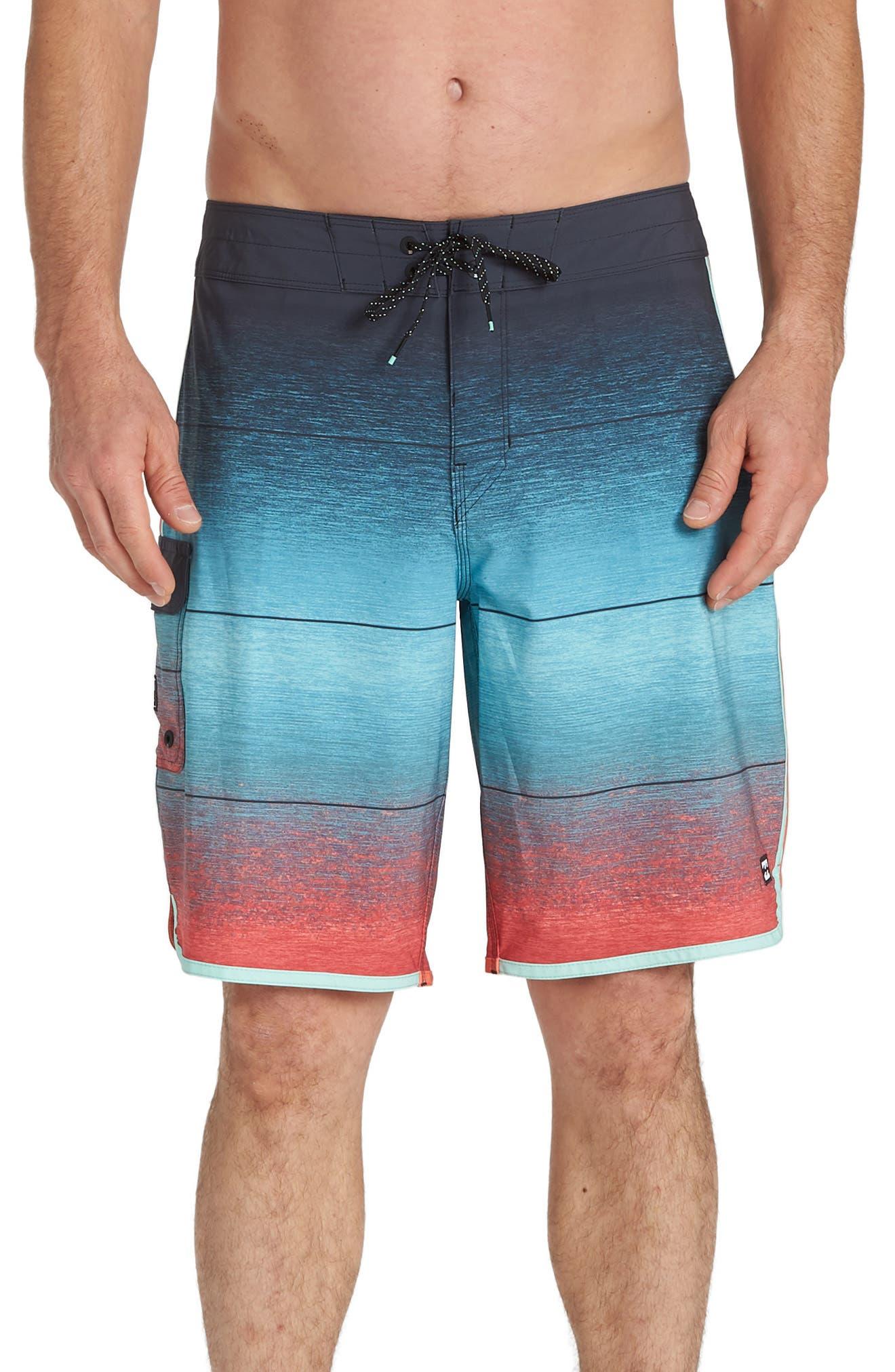 Billabong 73 Pro Board Shorts, Blue/green