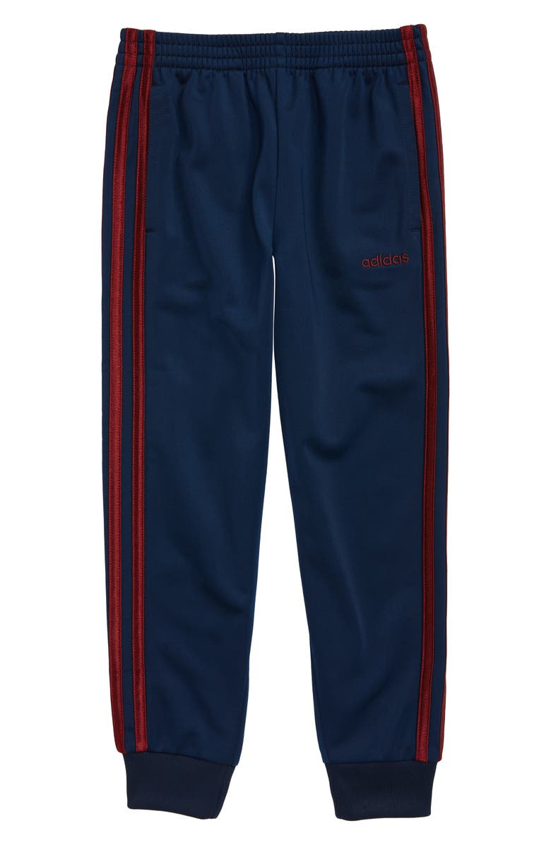 ADIDAS Core 3-Stripes Tricot Jogger Pants, Main, color, NAVY/ BURGUNDY