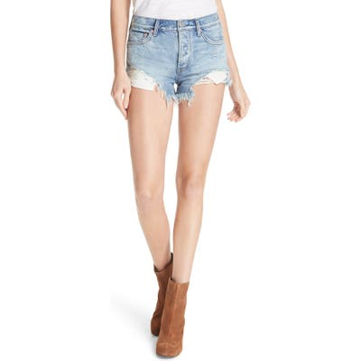 We The Free By Free People Loving Good Vibrations Shorts, Blue