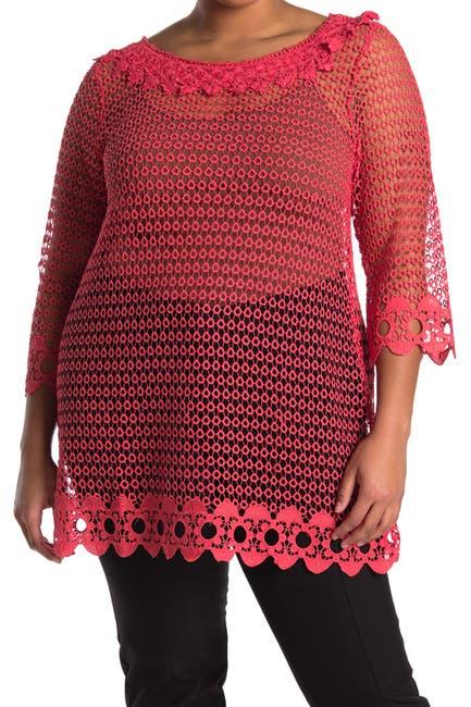 Image of Forgotten Grace Crochet Tunic Blouse