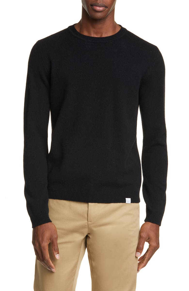 NORSE PROJECTS Sigfred Lambswool Sweater, Main, color, 001