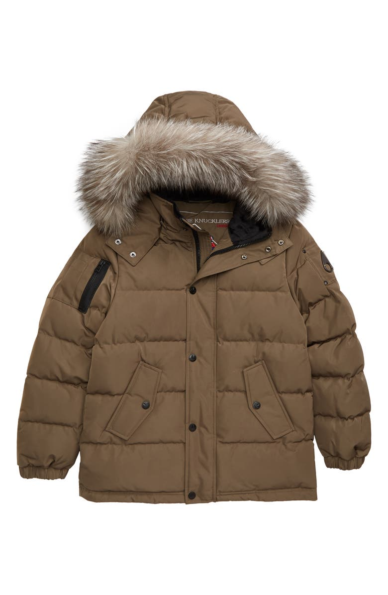 MOOSE KNUCKLES Down Jacket with Genuine Fox Fur Trim, Main, color, 260