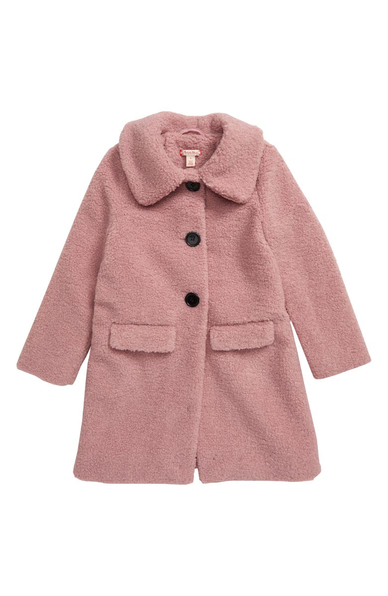 RUBY & BLOOM Teddy Bear Coat, Main, color, PINK ADOBE