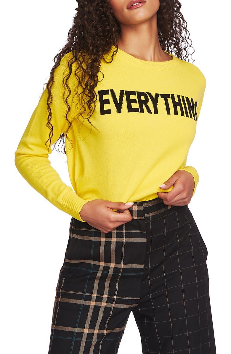 1.STATE Everything Crewneck Sweater, Main, color, CITRUS LEMON