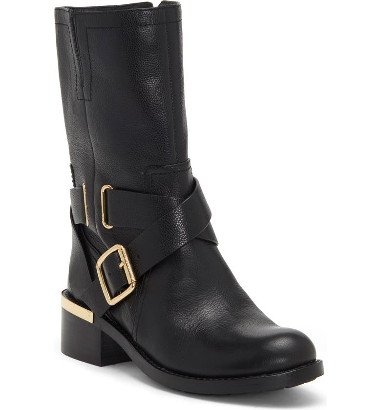 VINCE CAMUTO Wethima Engineer Boot, Main, color, BLACK LEATHER