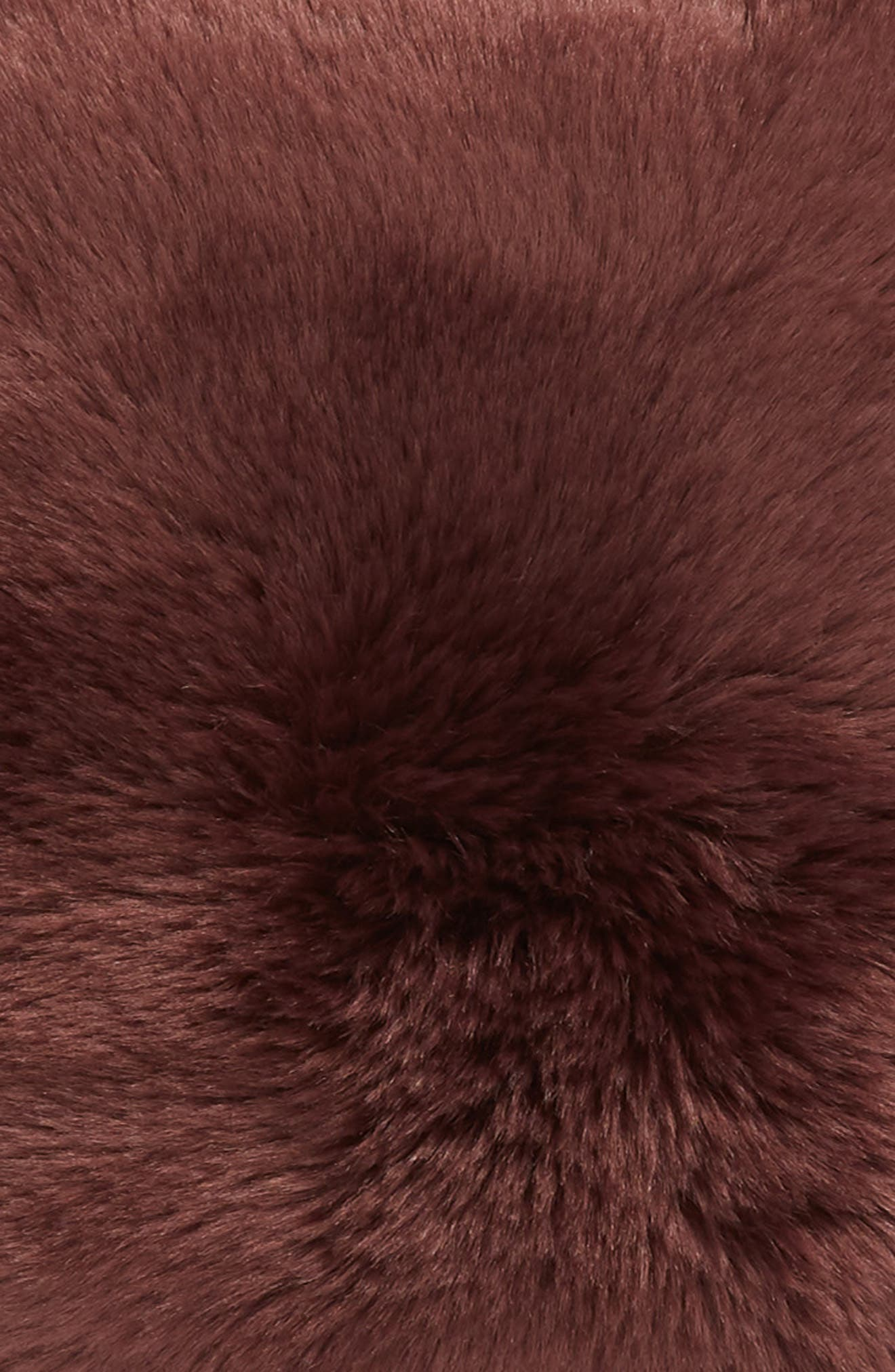 ,                             Cuddle Up Faux Fur Pillow,                             Alternate thumbnail 3, color,                             BURGUNDY STEM