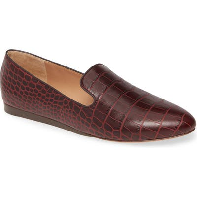 Veronica Beard Griffin Pointy Toe Loafer, Burgundy