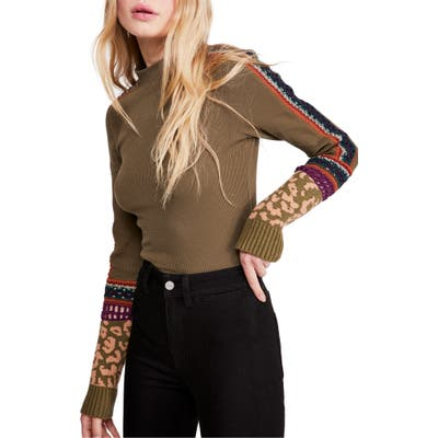 Free People Switch It Up Thermal Top, Green