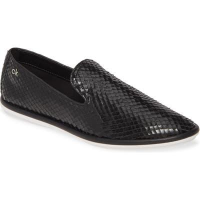Calvin Klein Issa Armatura Embossed Loafer- Black
