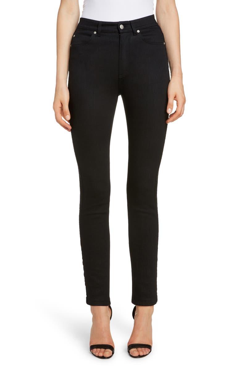 ALEXANDER MCQUEEN Skinny Jeans, Main, color, 001