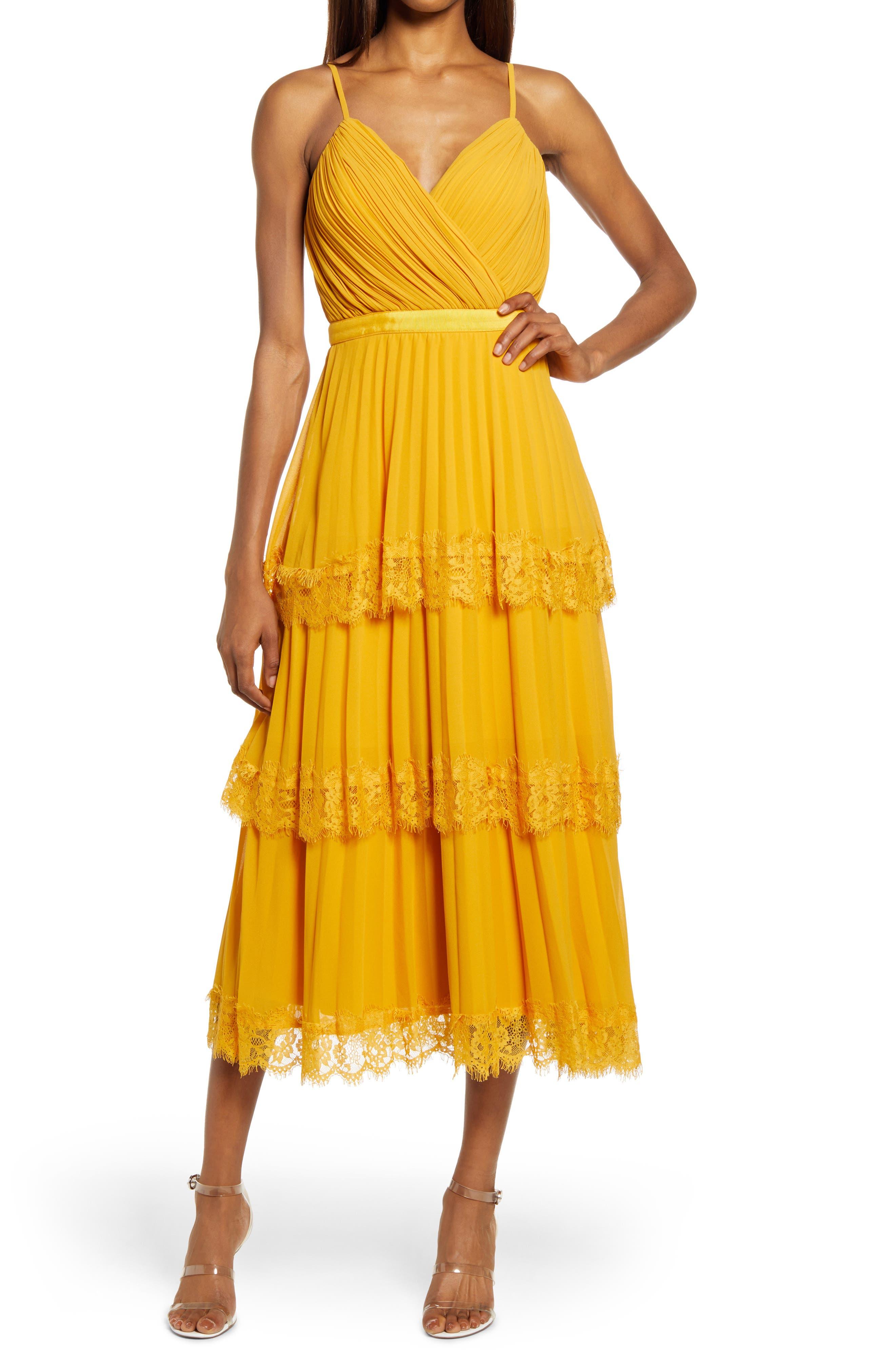 Glance Your Way Pleated Tiered Sleeveless Midi Dress