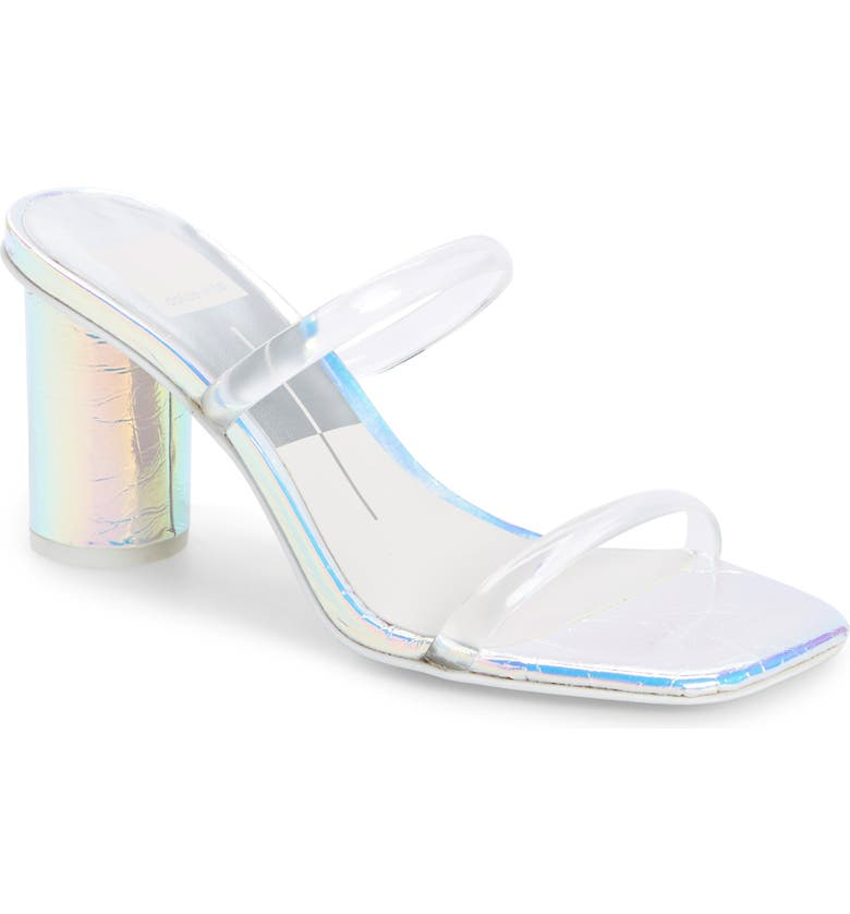 DOLCE VITA Noles City Slide Sandal, Main, color, CRYSTAL VINYL