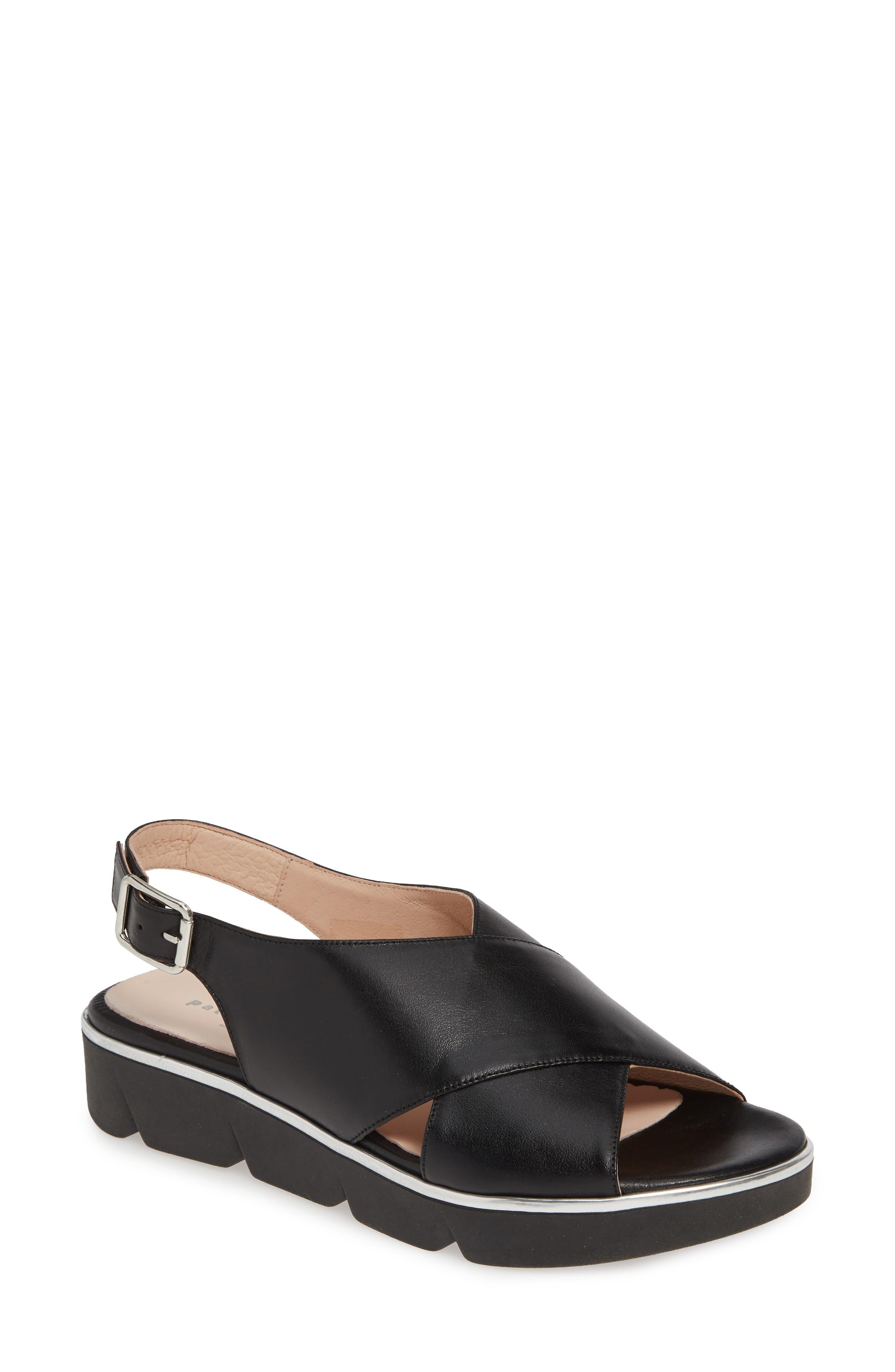 Patricia Green Candace Slingback Wedge Sandal, Black