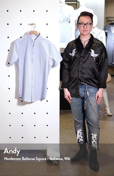 Richmond Check Short Sleeve Button-Down Performance Shirt, sales video thumbnail