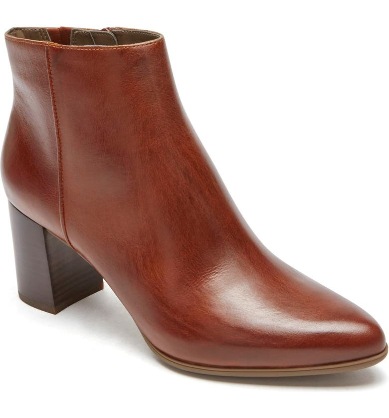 ROCKPORT Lynix Luxe Bootie, Main, color, SADDLE LEATHER