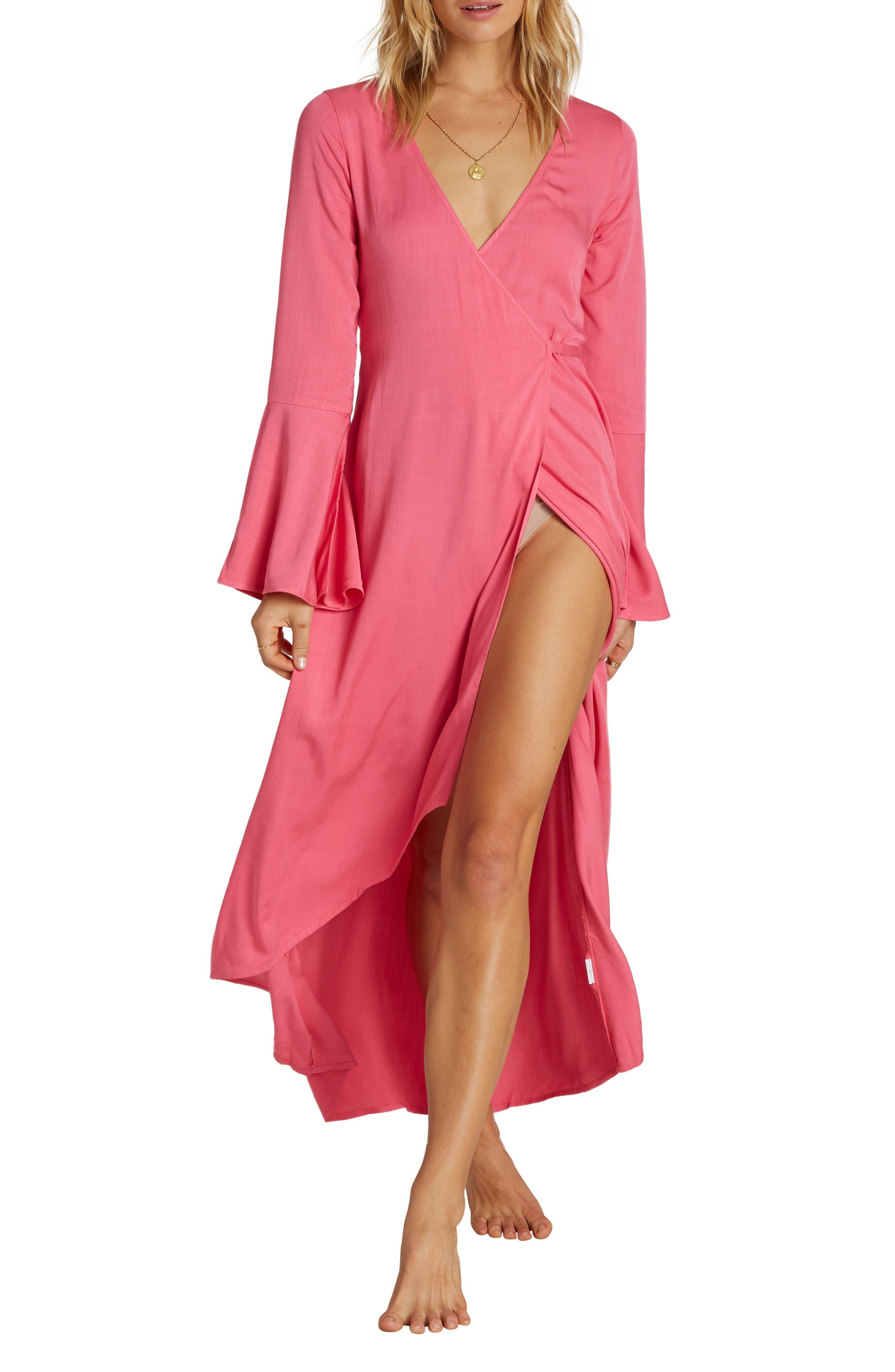 Billabong Juniors Right Side Cap Sleeve Wrap Dress