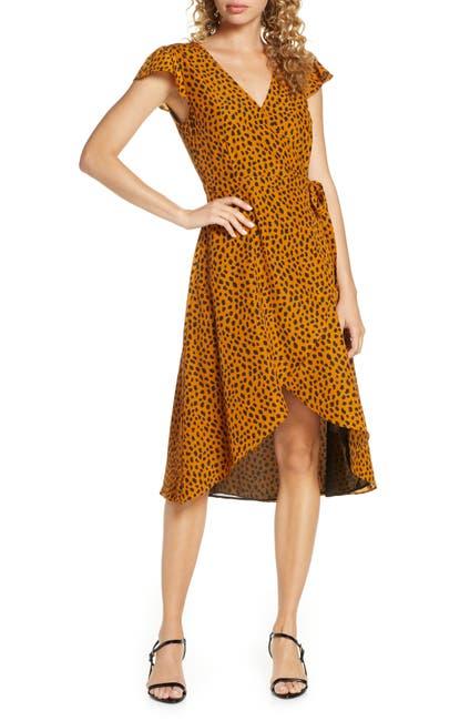 Image of BB Dakota Leopard Print Wrap Dress