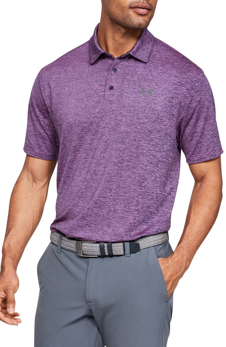 UNDER ARMOUR Playoff 2.0 Loose Fit Polo, Main, color, OPTIC PURPLE/ PITCH GREY