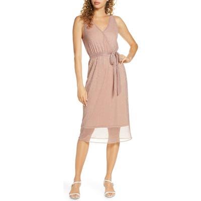 Bb Dakota Love To Love You Faux Wrap Dress, Pink