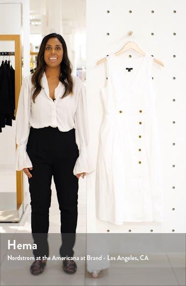 Sleeveless Cotton Poplin A-Line Shirtdress, sales video thumbnail