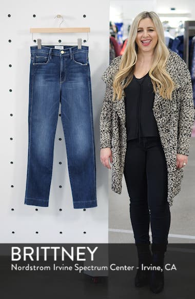 Le Sylvie Blind Stitch Straight Leg Jeans, sales video thumbnail