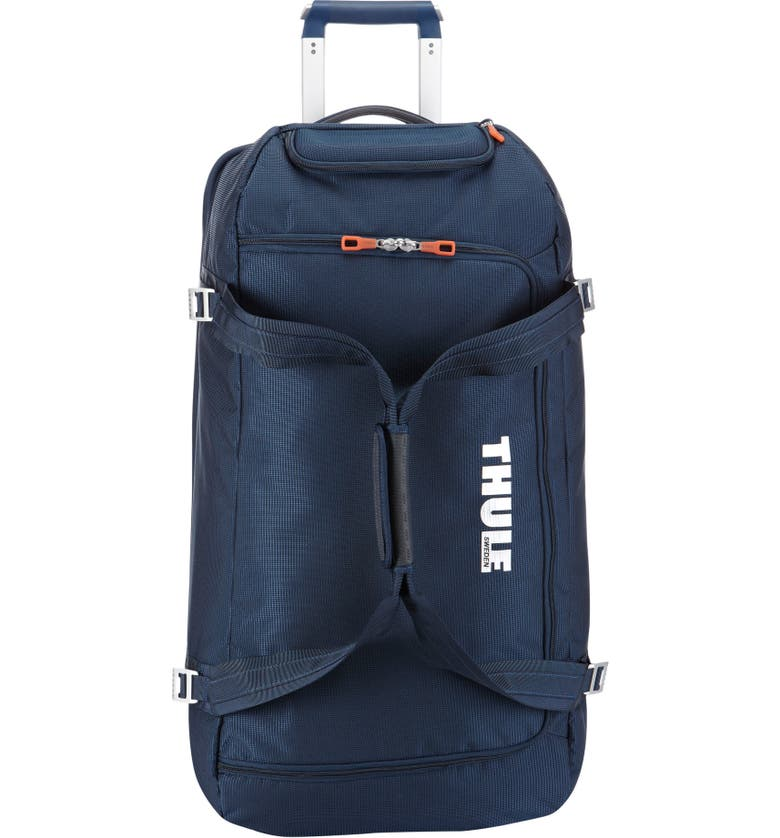 THULE Crossover 87-Liter 31-Inch Rolling Duffle Bag, Main, color, DARK BLUE