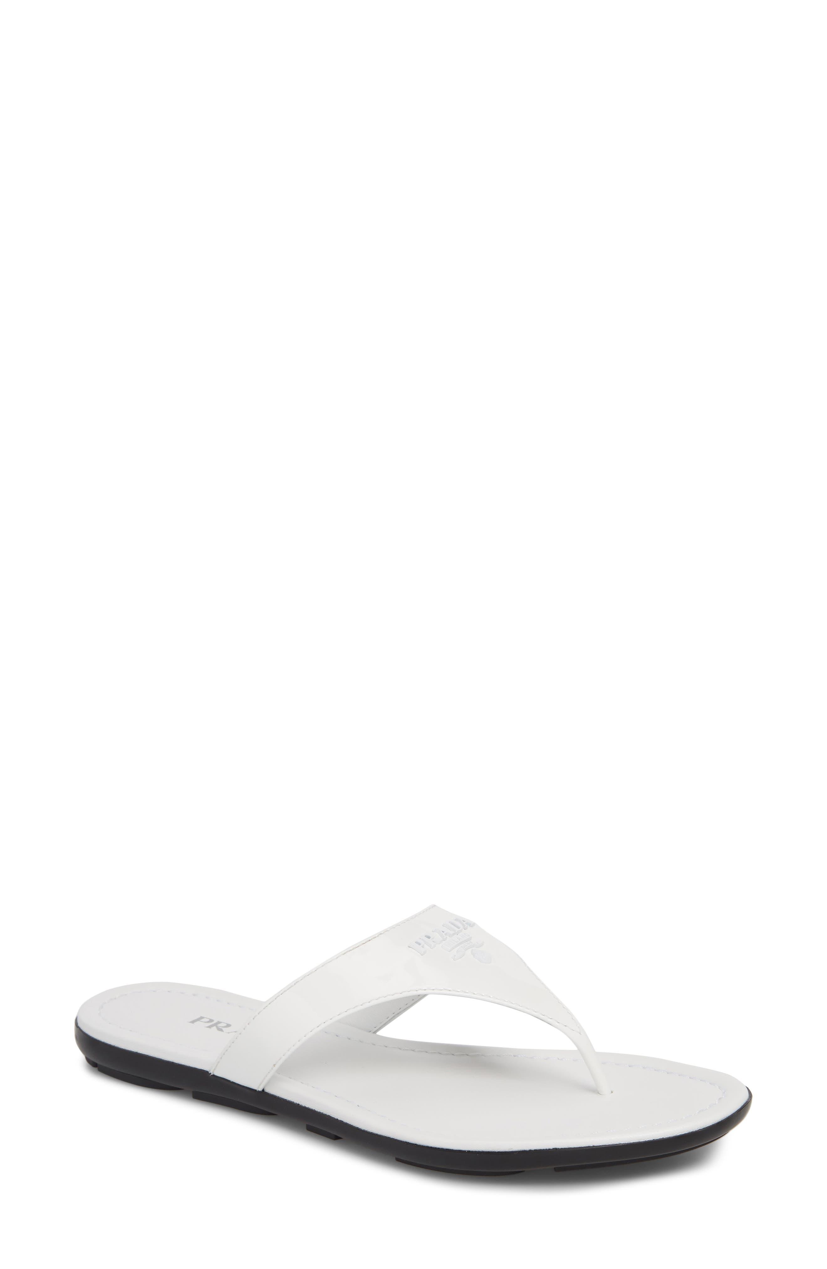Prada Logo Flip Flop (Women)