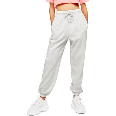 Topshop High Waist Cotton Blend Sweatpants