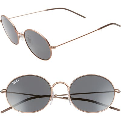 Ray-Ban 5m Oval Sunglasses - Rubber Copper/ Grey Solid