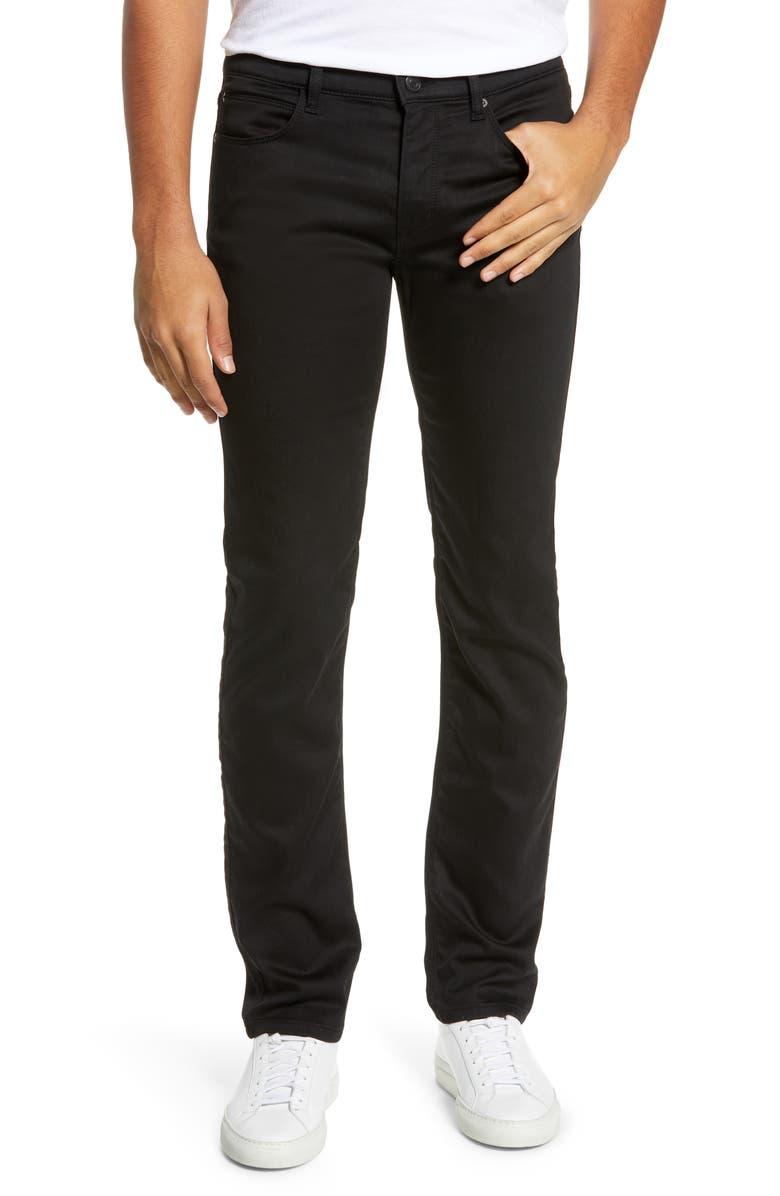 HUGO 708 Stretch Slim Fit Jeans, Main, color, 001