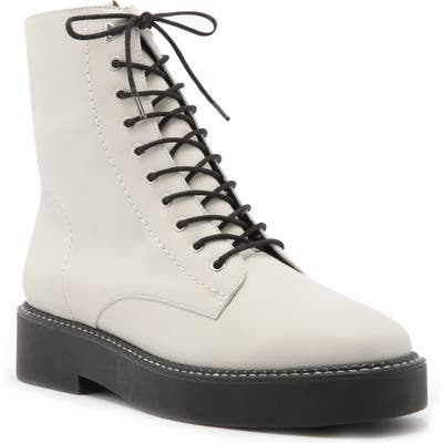 Schutz Mckenzie Lace-Up Boot- White
