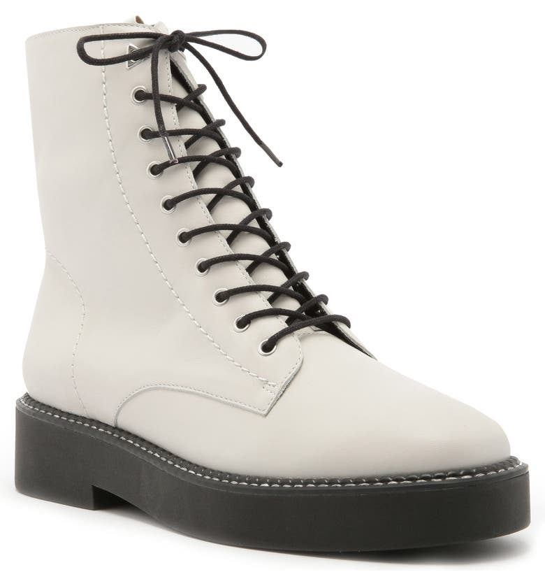SCHUTZ McKenzie Lace-Up Boot, Main, color, PEARL LEATHER