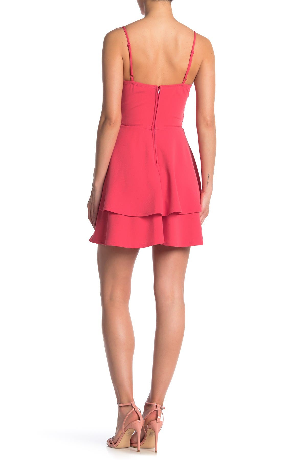 Image of ROW A V-Notch Wired Double Layer Skater Dress