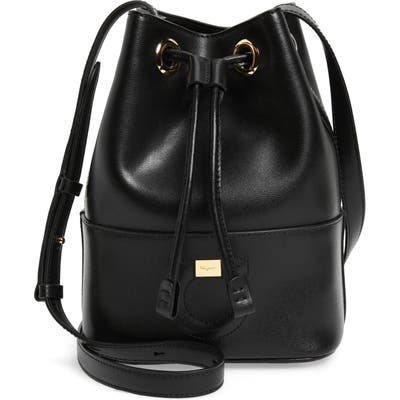 Salvatore Ferragamo City Quilted Gancio Bucket Bag - Black