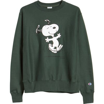 Champion X Peanuts Dancing Snoopy Graphic Sweatshirt (Nordstrom Exclusive)