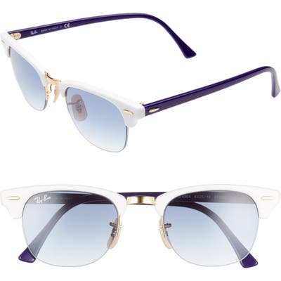 Ray-Ban 4m Gradient Clubmaster Sunglasses - White Gradient