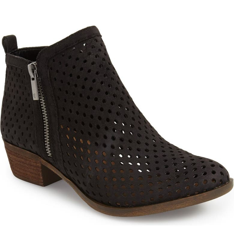 LUCKY BRAND 'Basel' Perforated Bootie, Main, color, 001