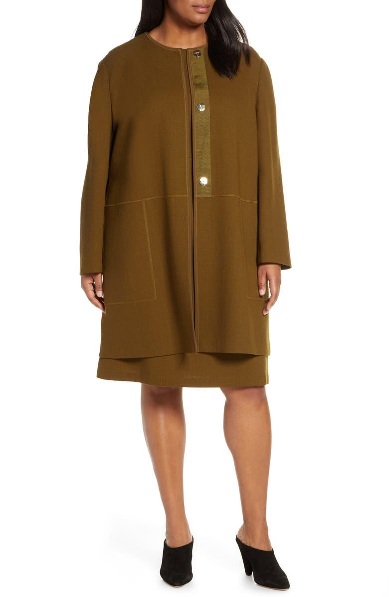 LAFAYETTE 148 NEW YORK Kierra Wool Jacket, Main, color, HERB