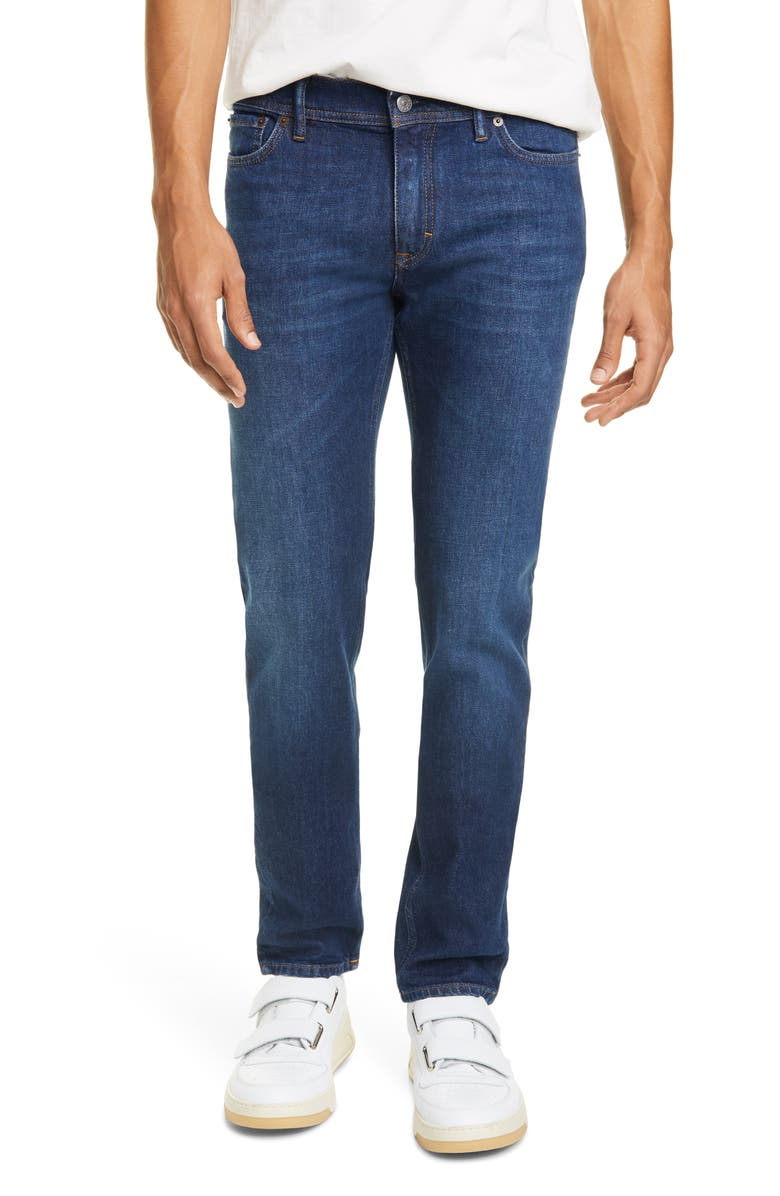 ACNE STUDIOS North Slim Fit Jeans, Main, color, DARK BLUE