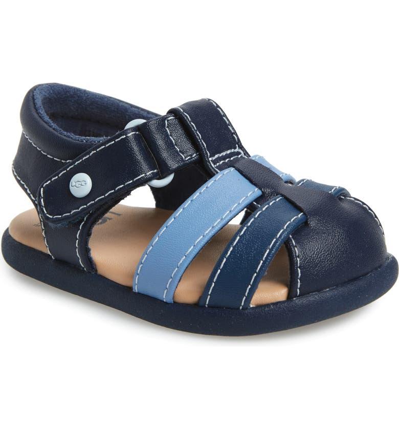 UGG<SUP>®</SUP> Kolding Fisherman Sandal, Main, color, NAVY
