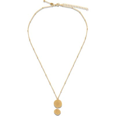 Ellie Vail Haley Sparkle Disc Pendant Necklace